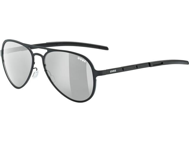 UVEX LGL 33 Pola Cykelbriller, black/silver